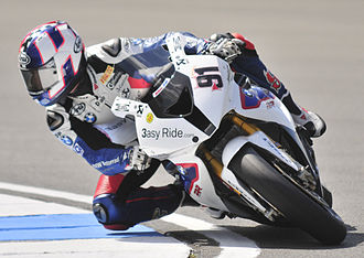 Leon Haslam - Haslam on the BMW S1000RR at the Donington round of the 2012 Superbike World Championship season