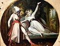 Leonora Discovers Alonzo's Dagger, early 1790s CE, by Johann Heinrich Fussli, Nationalmuseum, Sweden.jpg