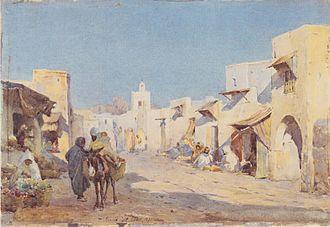 Leopold Müller (painter) - Image: Leopold Carl Müller Beduinendorf 1887