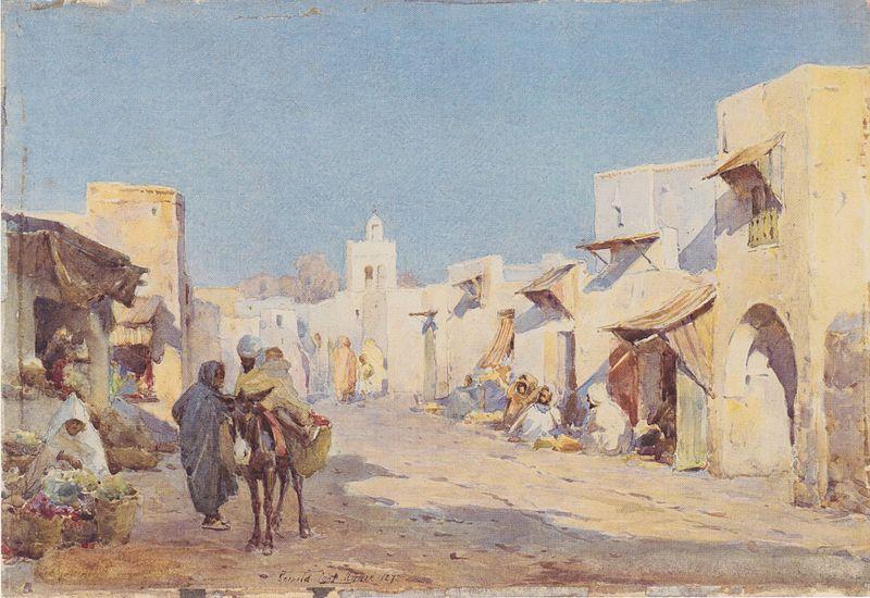 File:Leopold Carl Müller - Beduinendorf - 1887.jpeg