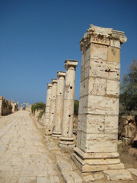 File:Leptis Magna Street.JPG
