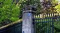 Les grilles du jardin du Luxembourg, en face de la rue Vavin.jpg