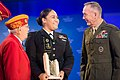"""Levetina S. King 2016 (with Hershel W. """"Woody"""" Williams and Gen. Joseph F. Dunford).jpg"""
