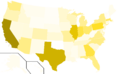 Libertarian Party presidential election results, 2004, raw vote count (United States of America).png