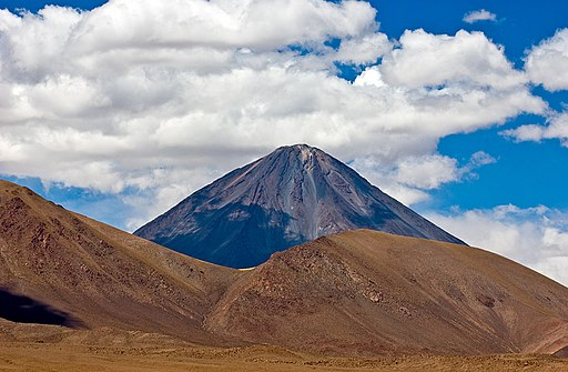 Licancabur volcano summit chile ii region