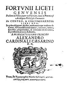 De centro et circumferentia, 1640