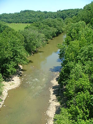 Licking River (Kentucky) - The Licking River near the Blue Licks Battlefield State Park