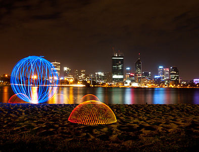 Light painting, domes and orb