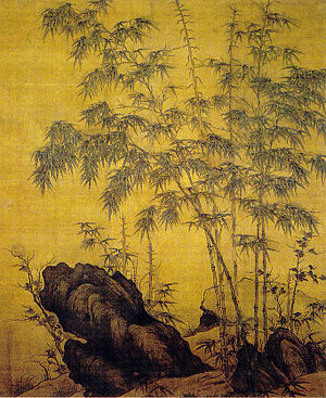 Li Kan (painter) - Li Kan, Bamboos and Rock