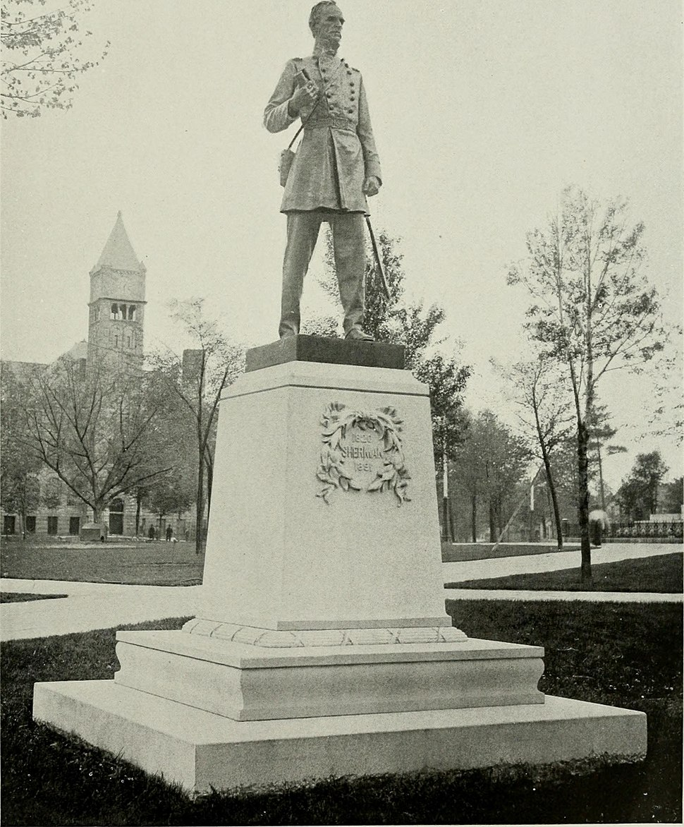Lincoln, Grant, Sherman, Farragut - an account of the gift, the erection and the dedication of the bronze statues given by Charles H. Hackley to the city of Muskegon, Michigan - unveiled in Hackley (14577672349)