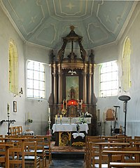 Chapelle Notre-Dame de la Colombe, Linsmeau (interieur)