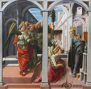 Martelli Annunciation - Image: Lippi, annunciazione Martelli