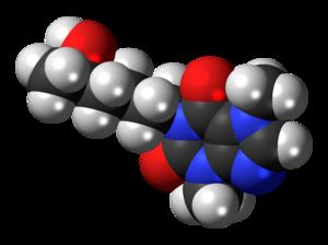 Lisofylline - Image: Lisofylline 3D spacefill