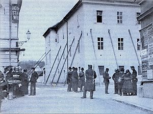 1895 Ljubljana earthquake - The Convent of the Poor Clares at the site of today's Bank of Slovenia