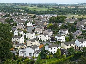 Llanfairpwllgwyngyll - Image: Llanfair Pwllgwyngyll roofscape (1) geograph.org.uk 1058331