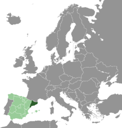 Location of Catalonia