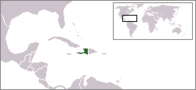 A map showing the location of Haiti