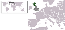A map showing the location of Scotland