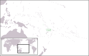 Outline of Wallis and Futuna - The location of Wallis and Futuna