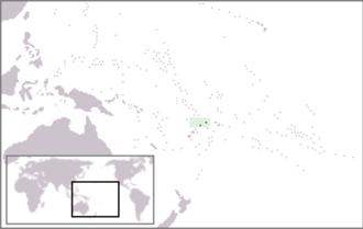 Outline of Wallis and Futuna - The location of Wallis and Futuna