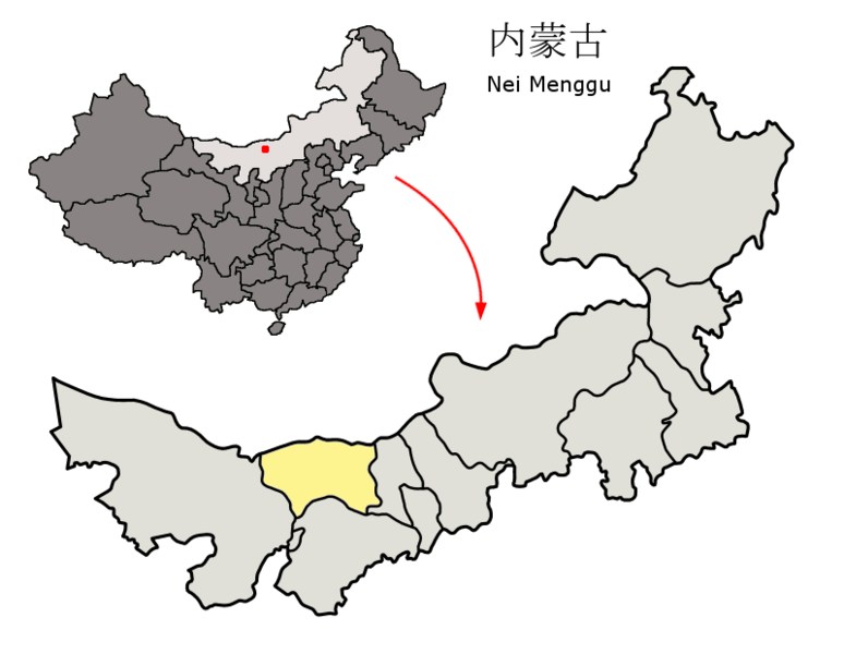 Fichier:Location of Baynnur Prefecture within Inner Mongolia (China).png