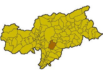 Ritten - Location of Ritten within South Tyrol