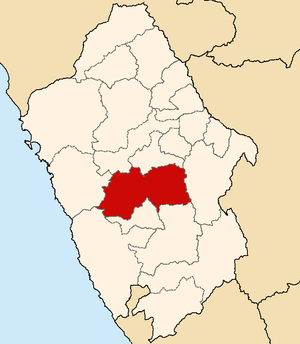 Huaraz Province - Image: Location of the province Huaraz in Ancash