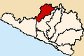 Location of the province La Unión in Arequipa.PNG