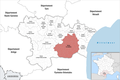 Locator map of Kanton Les Corbières 2019.png