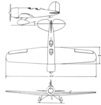 Lockheed 8 Sirius 3-view Aero Digest March,1930.png