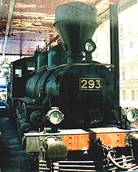 Locomotive of Lenin's train, on which he arrived at Finland Station, Petrograd in April, 1917.