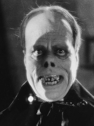 Horror film - Lon Chaney, Sr. in the 1925 film The Phantom of the Opera.