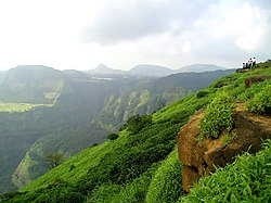 View of Western Ghats near Lonavla