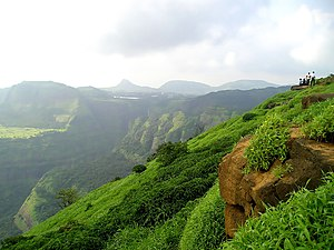 Lonavla - View of Western Ghats near Lonavala
