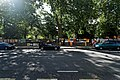 London - Bayswater Road - View SSE on Sunday Morning Art Fair along Hyde Park Fence.jpg