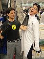 Long Beach Comic Expo 2011 - Captain Hammer wrangles Dr Horrible (5648640710).jpg