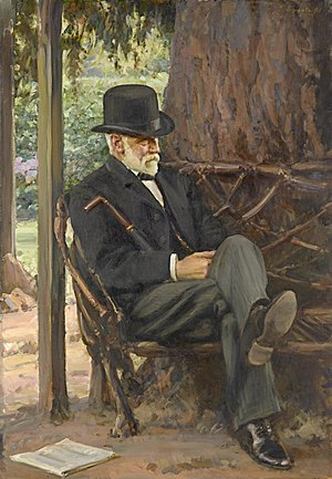 Alfred Felton - Portrait of Alfred Felton by John Longstaff at the National Gallery of Victoria