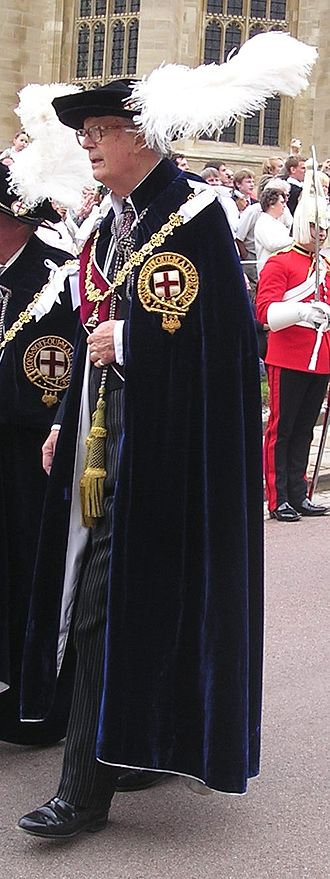 John Baring, 7th Baron Ashburton - Lord Ashburton in the robes of a Knight Companion of the Order of the Garter