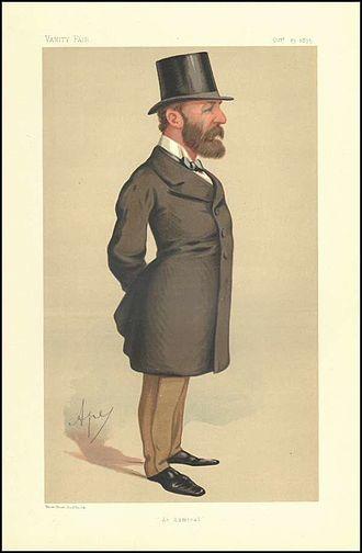 Lord John Hay (Royal Navy officer, born 1827) - A Vanity Fair caricature of Admiral of the Fleet Lord John Hay