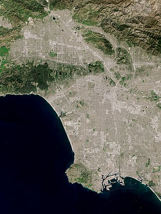 Satellite photo shows The city of Los Angeles Los Angeles by Sentinel-2, 2019-03-30.jpg