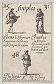 Louis le debonnaire... Charles le Simple, from 'Game of the Kings of France' (Jeu des Rois de France) MET DP831121.jpg