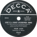 Love Is a Many-Splendored Thing by Four Aces featuring Al Alberts US vinyl 10-inch 78-RPM.tif