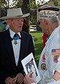 Lt. John W. Finn speaking with fellow Pearl Harbor survivors (051027-N-1577S-013).jpg