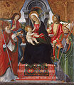 Lucchese School Late 15th Century - Virgin and Child with Saints Nicholas, Sebastian, Roch and Martin - Google Art Project.jpg