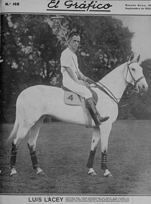 Polo - Luis Lacey, former captain of Argentine Polo Team in 1922