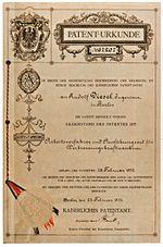 February 27: Rudolf Diesel's patent.