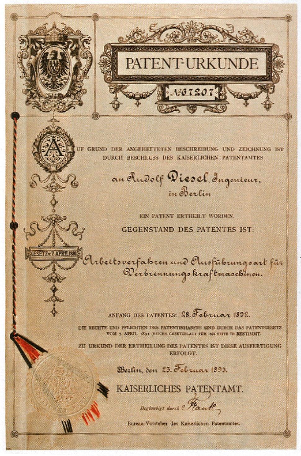 Lumbar patent dieselengine