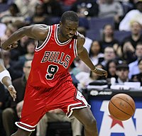 Luol Deng in Chicago Bulls uniform
