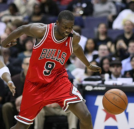 South Sudanese-born basketball player Luol Deng Luol Deng Wizards.jpg