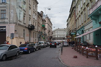 Old Town (Lviv) - A street in the Old Town of Lviv